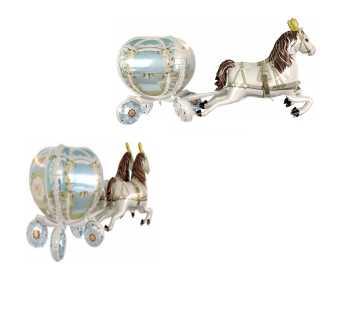 Folienballon 4 D Hochzeitskutsche