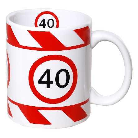 Kaffeebecher zum 40.Geburtstag