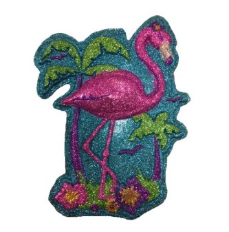 Flamingo Glitzerschild