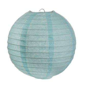 Lampion / Laterne rund im 2er Set, blau