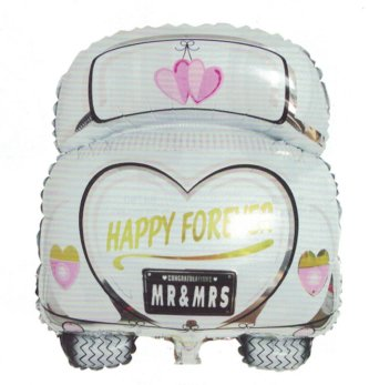 Folienballons : Just Married Mobil
