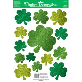 Fenstersticker St. Patricks Day Klee