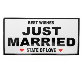 Just Married Schild (30 x 15cm)