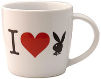 I Love Playboy Tasse mit Blechbox