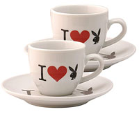I Love Playboy Espresso Tasse 2er Set