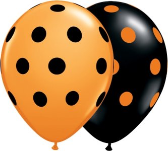 Halloween Big Polka Dots Ballons