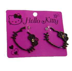 Hello Kitty XL Ohrstecker Pop BLACK