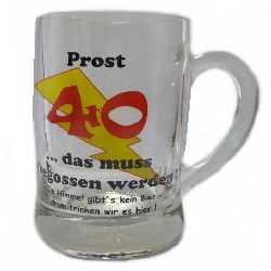 Prost 40 Bierglas Zum Geburtstag