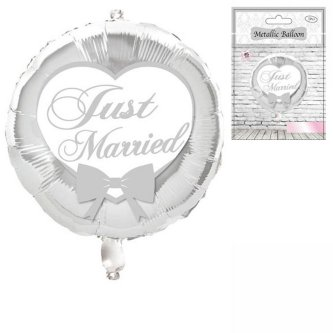 Ballon mit Druck Just Married