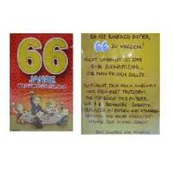 Geburtstagskarte 66 jahren da f㤮gt leben