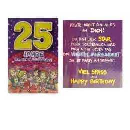 Geburtstagskarte   25 Jahre