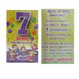 Geburtstagskarte   7 Jahre