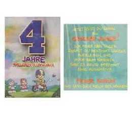 Geburtstagskarte   4 Jahre