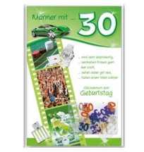 30 Geburtstag Gluckwunschkarte