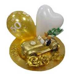 Goldene Hochzeit Deko Sparset 4