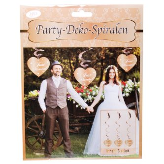Party Spirale Just Married, rosegold