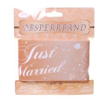 Absperrband Just Married, rose