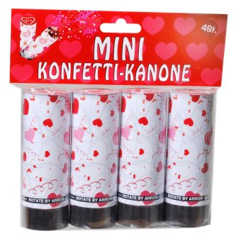 Mini Konfetti-Kanonen Love