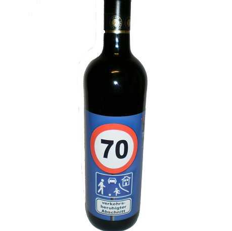 Geburtstag Geschenke. 70. Geburtstag Wein