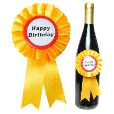 Flaschen Rosette HAPPY BIRTHDAY