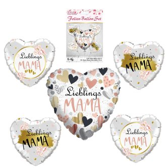 Folien Ballon Set Mama, 5-tlg.