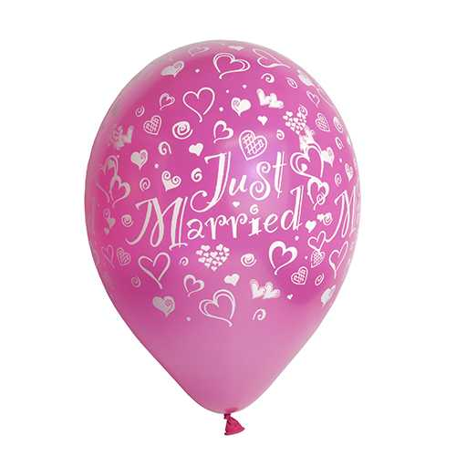 Just Married Latex Luftballons zur Hochzeit