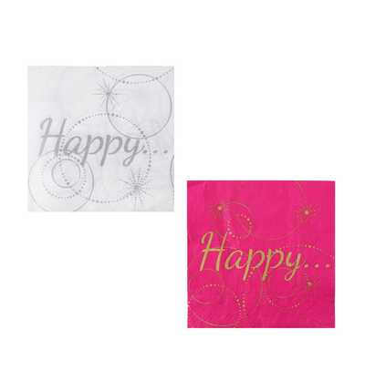 Papierservietten Happy