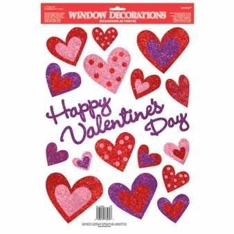 Happy Valentine`s Day Fenster Sticker