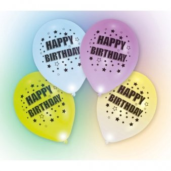 LED Ballons Happy Birthday