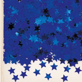 Party Konfetti Stars, blau