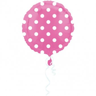 Folienballon Dots gepunktet rosa