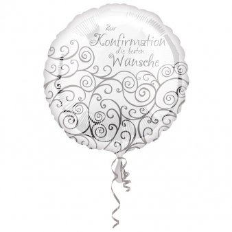 Folienballon Konfirmation