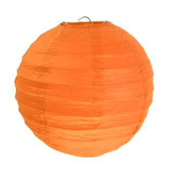 Lampion / Laterne rund im 2er Set, orange