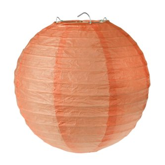 Lampion / Laterne rund im 2er Set, coral