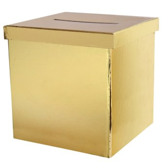 Geldbox / Briefbox gold, 20 cm