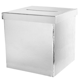 Geldbox / Briefbox silber, 20 cm