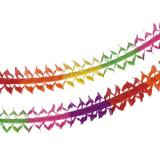 Girlande, Papier oval 4 m Rainbow