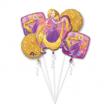 Folienballon Bouquet Rapunzel,5 tlg.