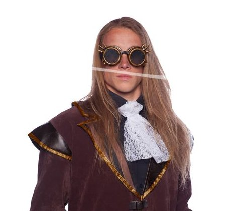 Steampunk Brille Spikes