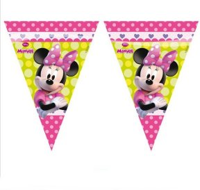 Minnie Party Wimpelkette,rosa