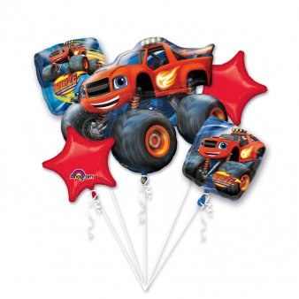 Folienballon Bouquet Monster Trucks,5 tlg.
