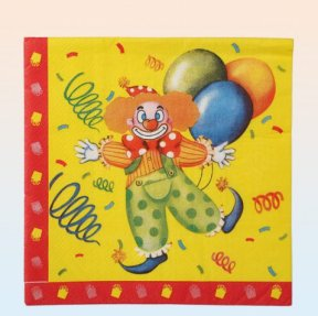 Karneval Clown Servietten