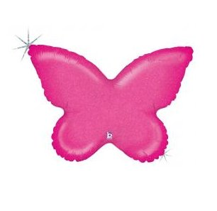 Folienballon Schmetterling pink