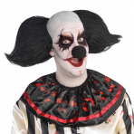 Latex Maske mit Haaren Grusel Clown