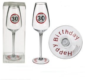 Sektglas Happy Birthday 30