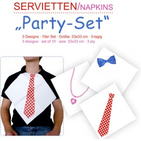 Servietten Party Set