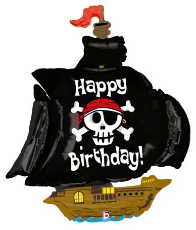 Piratenschiff Folienballon, 91,4 cm
