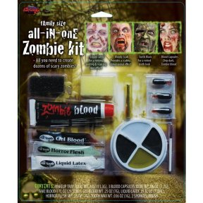 Zombie Halloween Make Up Kit