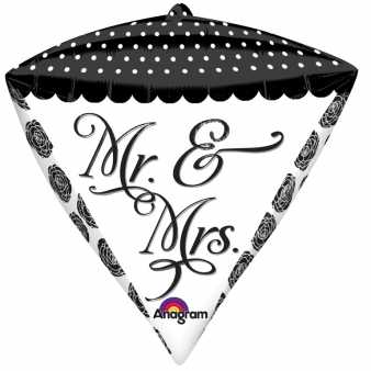 Folienballon Diamonds, Mr. & Mrs.