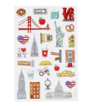 GLOSSY-Sticker USA